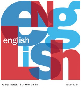 """ENGLISH"" Letter Collage (foreign language learn class course)"