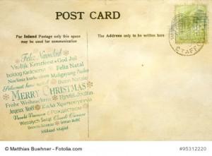 Weihnachten Postkarte Matthias Buehner